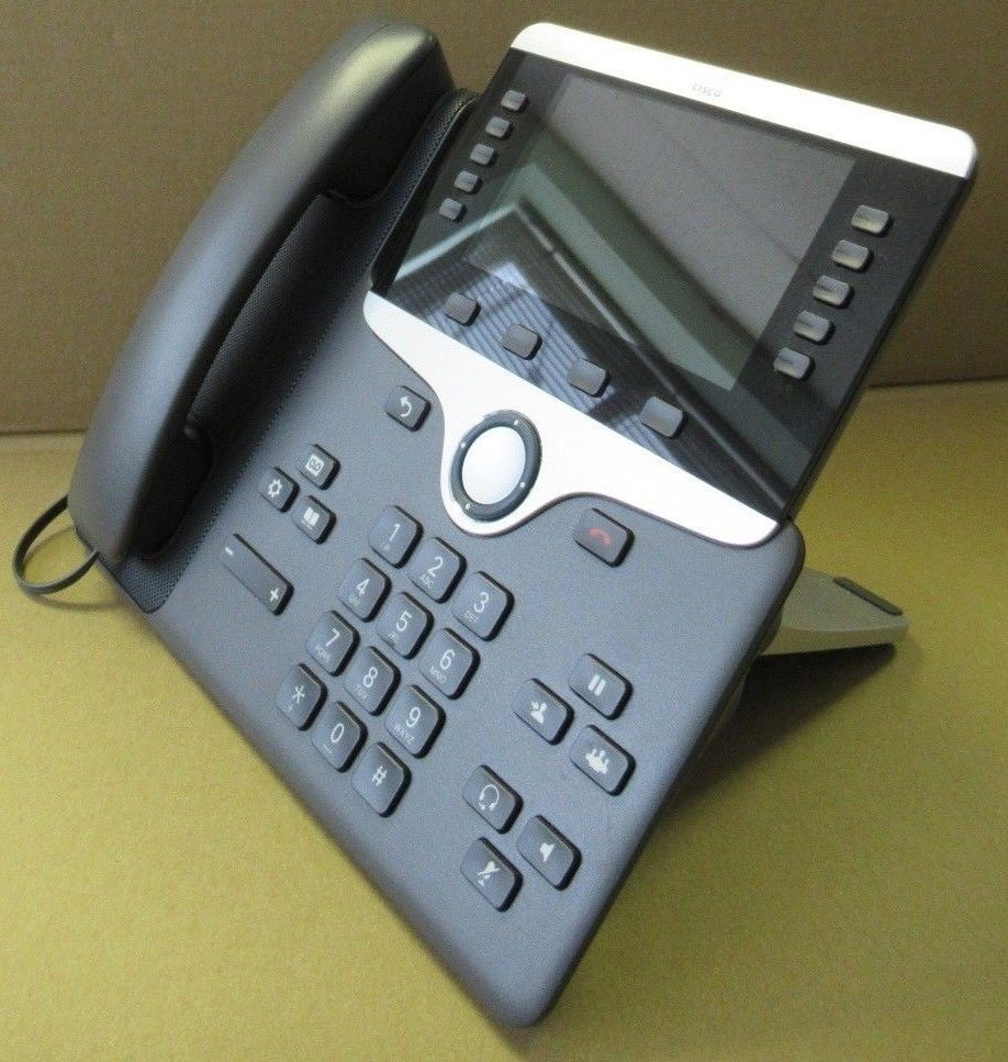 Cisco CP-8851-K9 CP-8511 Unified IP VOIP Greyscale Telephone